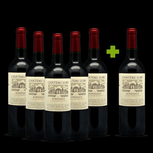 Château Luby Bordeaux 5+1 gratis